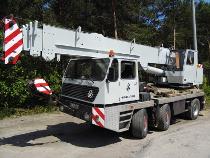 Żuraw samojezdny GMT 25 KRUPP, dźwigi Łódź.